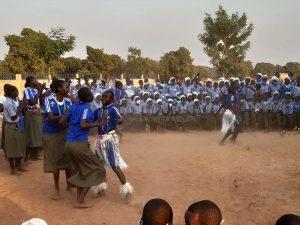 Día de cierre de las actividades del primer trimestre en el Instituto de Segundaria y Técnico de Kyabé